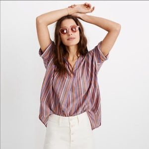 Madewell Courier Button Back Striped Shirt